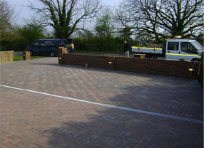 Driveway completed by Sauka Groundworks & Sons Contracts
